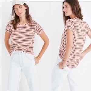 NWOT Madewell CrewNeck Whisper Cotton Striped Tee